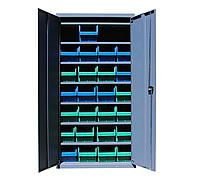 Шкаф инструментальный для контейнеров ЯШМ-18 исп.1 (1800х900х390 мм), металлический шкаф с ящиками