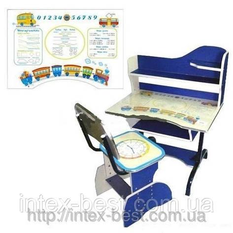Регулируемая детская парта растишка со стульчиком Bambi HB-2072-01, фото 2