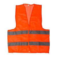 Жилет сигнальный оранжевый XL INTERTOOL SP-2028