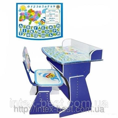Регулируемая детская парта растишка со стульчиком Bambi HB-2029AUK-01, фото 2