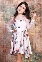 """Нарядное платье """"Карина"""" для девочек подростков белое р.122-146"""