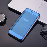 Чехол Mirror для Samsung Galaxy J1 2016 J120 книжка зеркальный Blue