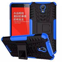 Чехол Armor для Xiaomi Redmi Note 2 бампер противоударный Синий