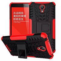 Чехол Armor для Xiaomi Redmi Note 2 бампер противоударный Красный