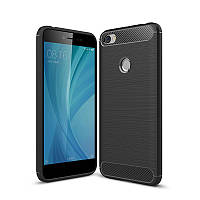 Чехол Carbon для Xiaomi Redmi Note 5A / Note 5A Pro / Note 5A Prime бампер Black