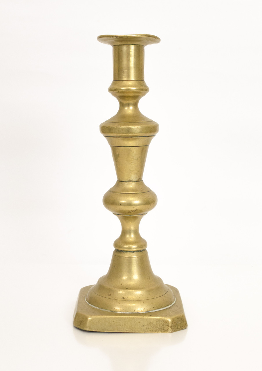 Очень старый бронзовый подсвечник, бронза, Англия