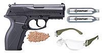 Пистолет пневматический CROSMAN PHANTOM / Пистолет с жатым СО2 черного цвета