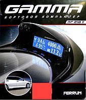 Маршрутный бортовой компьютер GAMMA GF 218T для Лада Калина c синей / зеленой подсветкой