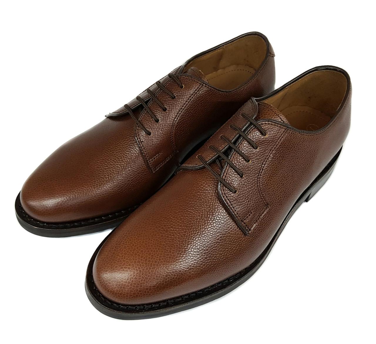 Мужские кожаные туфли дерби ручной работы Samuel Windsor коричневые SH0022/22