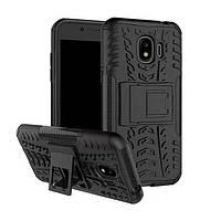 Чехол Armor для Samsung J2 2018 / J250 противоударный бампер черный