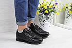 Женские кроссовки Reebok Classic (черные), фото 2