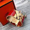 Широкий браслет Hermes (реплика) розовое золото, эмаль, фото 4