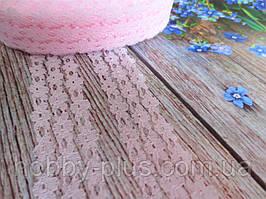 """Кружево """"Цветочная дорожка"""", 2,5 см, цвет светло-розовый"""