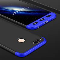 Чехол GKK 360 для Xiaomi Mi Max 2 Бампер Black+Blue