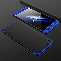 Чохол GKK 360 для Xiaomi Redmi Note 5A 2/16 Бампер Black-Blue