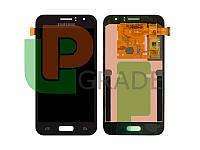 Дисплей для Samsung J120H Galaxy J1 (2016) + тачскрин, черный, OLED, копия хорошего качества