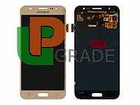 Дисплей для Samsung J500H Galaxy J5 (2015) + тачскрин, золотистый, оригинал (Китай), переклеено стекло