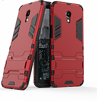 Чехол Iron для Meizu M6S бронированный Бампер Броня Red