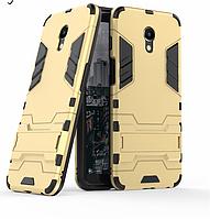 Чехол Iron для Meizu M6S бронированный Бампер Броня Gold