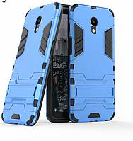 Чехол Iron для Meizu M6S бронированный Бампер Броня Blue