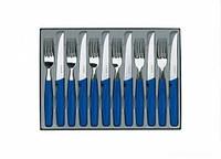 Набор столовых приборов Victorinox из нержавеющей стали (12 предметов) синего цвета