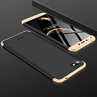 Чехол GKK 360 для Xiaomi Redmi 6A бампер оригинальный Black-Gold