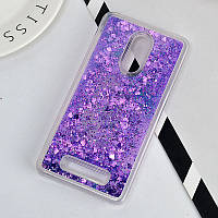 Чехол Glitter для Xiaomi Redmi Note 3 / Note 3 Pro Бампер жидкий блеск Фиолетовый