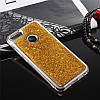Чехол Glitter для Xiaomi Mi A1 / Mi 5x Бампер Жидкий блеск Gold