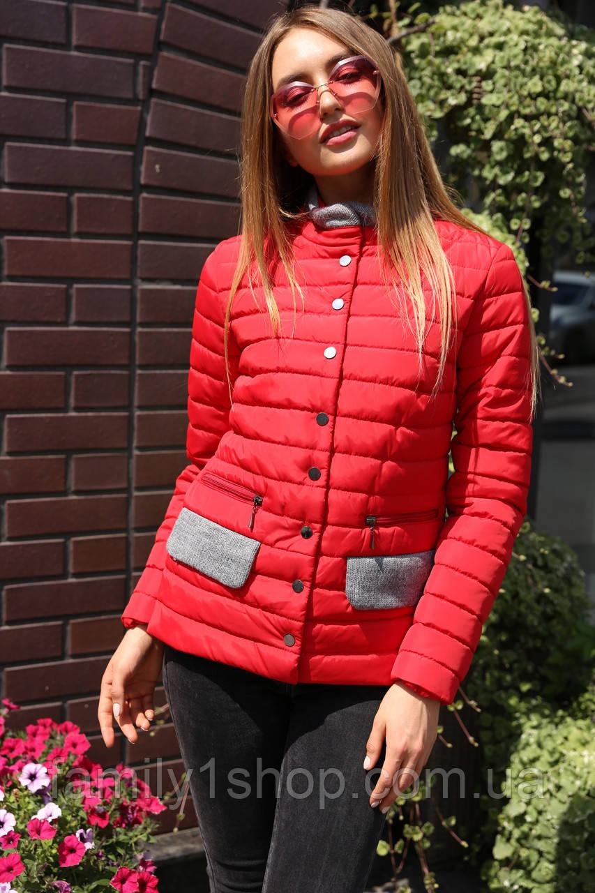 Демисезонная женская куртка полуприталенного силуэта. c233f1093521c
