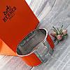 Широкий браслет Hermes (реплика) хром, эмаль, фото 2