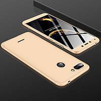 Чехол GKK 360 для Xiaomi Redmi 6 бампер оригинальный Gold