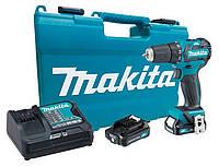 Аккумуляторный бесщёточный шуруповерт Makita DF332DSAE + 2 акб 10.8 В 2 Ah + з/у + кейс