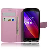 Чехол IETP для Asus Zenfone Go ZB452KG / ZB450KL X014D книжка кожа PU розовый