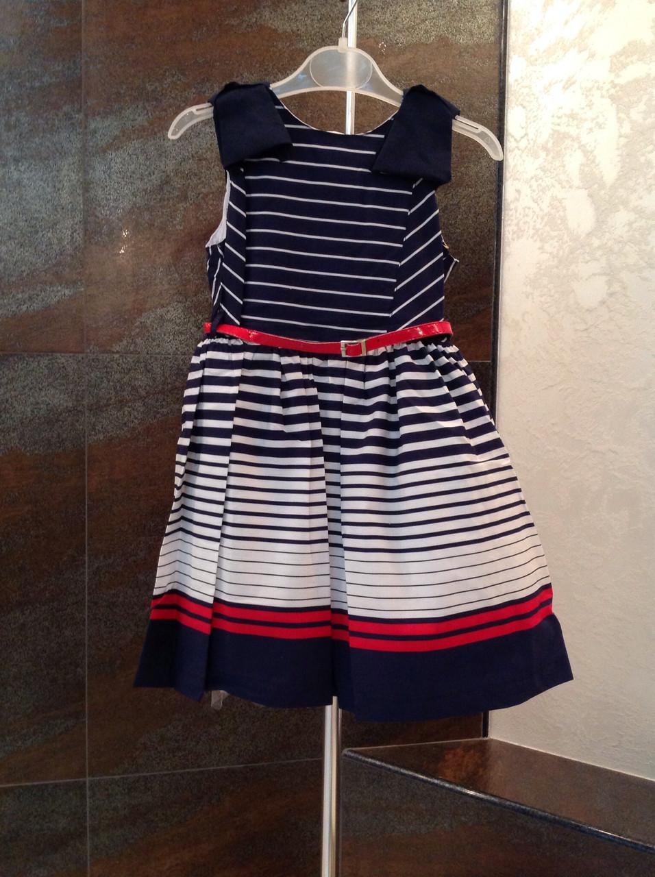 Платье для девочек 116 роста Красная полоска