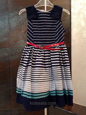 Платье для девочек 116 роста Красная полоска, фото 2