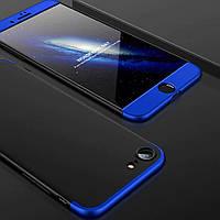 Чехол GKK 360 для Iphone 6 / 6s Бампер оригинальный без выреза Black-Blue