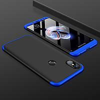 Чехол GKK 360 для Xiaomi Redmi S2 бампер оригинальный накладка Black-Blue