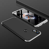 Чехол GKK 360 для Xiaomi Redmi S2 бампер оригинальный накладка Black-Silver
