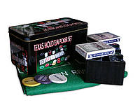 """Набор для игры в покер """"Poker Set"""". Подарочная стальная коробка."""