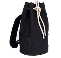 Рюкзак из брезента черный мешок