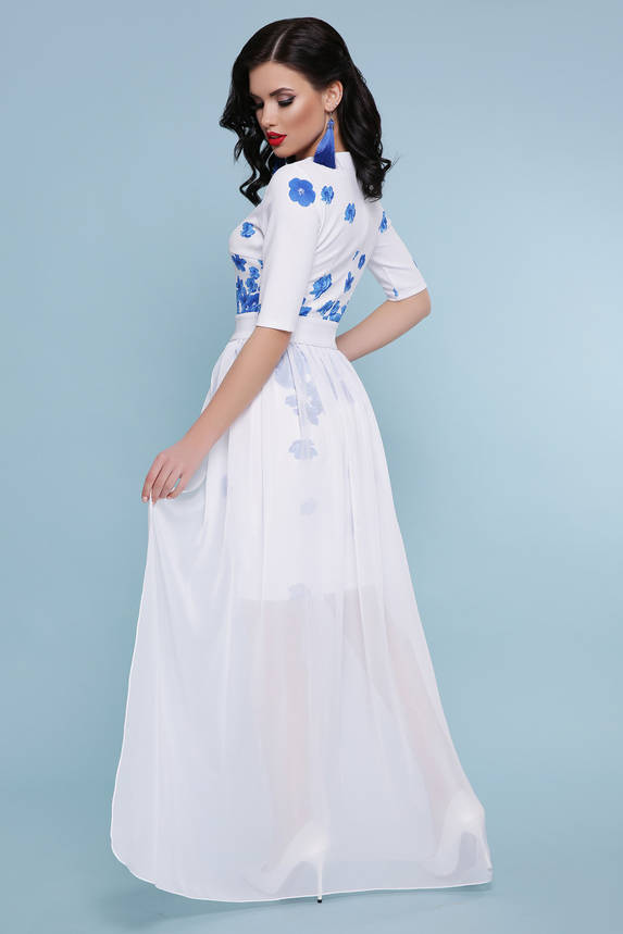 Белое платье двойка с цветочным принтом  , фото 2