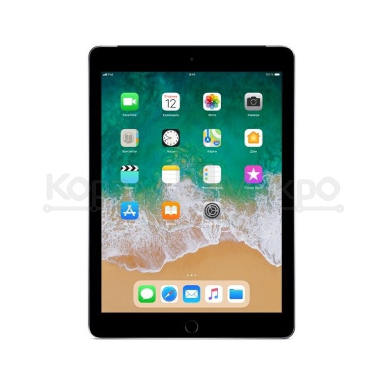 "Планшет Apple iPad 2018 9.7"" 32Gb Wi-Fi, LTE Space Grey MR6N2RU/A"