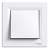 Выключатель одноклавишный белый Schneider Asfora IP44 (eph0100221)