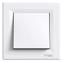 Выключатель одноклавишный белый Schneider Asfora IP44 (eph0100221), фото 1