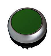 Кнопка с подсветкой, плоская, с фиксацией, зеленая IP67 Schrack