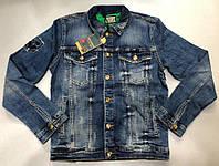 Куртка джинсовая мужская UNITED BAMBOO D5946 темно-синяя