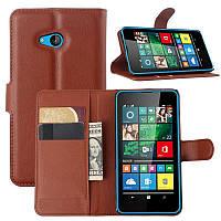 Чехол IETP для Microsoft Lumia 640 книжка кожа PU коричневый