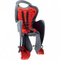 Сиденье заднее BELLELLI MR FOX Clever детское до 22кг (серый с красной подкладкой)