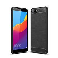 Чехол Carbon для Huawei Y6 2018 бампер черный, фото 1
