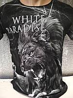 Мужская футболка двухсторонняя White P Турция опт р. M, L, XL, XXL